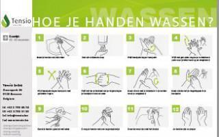 Instructiebord: Hoe je handen wassen?