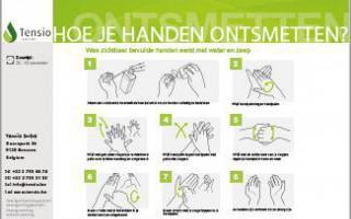 Instructiebord: Hoe je handen ontsmetten?