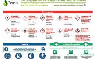 Slim omgaan met reinigings- en desinfectiemiddelen
